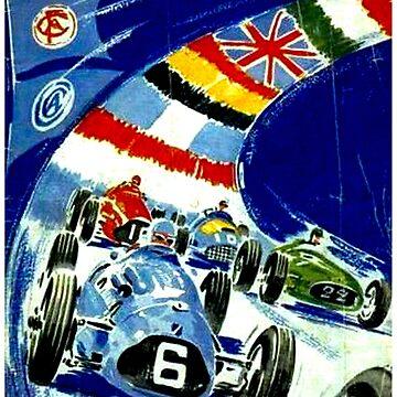 EUROPA; Weinlese-Grand Prix-Druck von 1951 von posterbobs