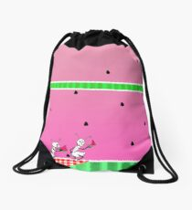 Watermelon Picnic Drawstring Bag