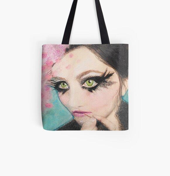 Fashion Beauty Eyelash Makeup Artist Mask All Over Print Tote Bag