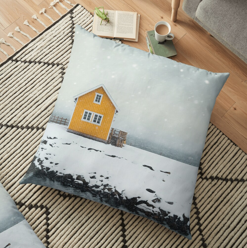 Falling Softly Floor Pillow