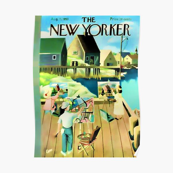 Vintage New Yorker Cover - Circa 1953 Poster