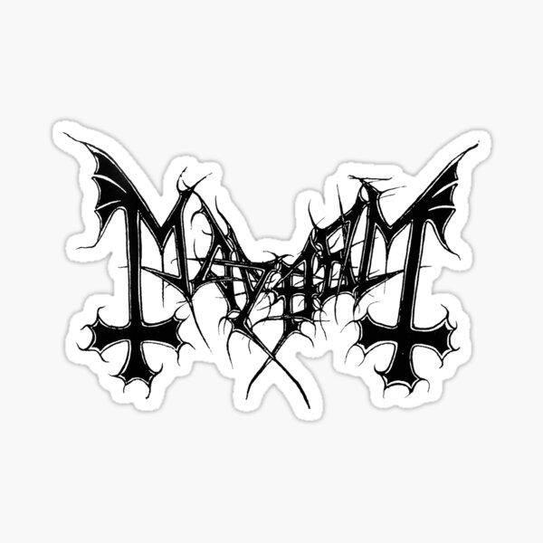Mayhem Logo Sticker