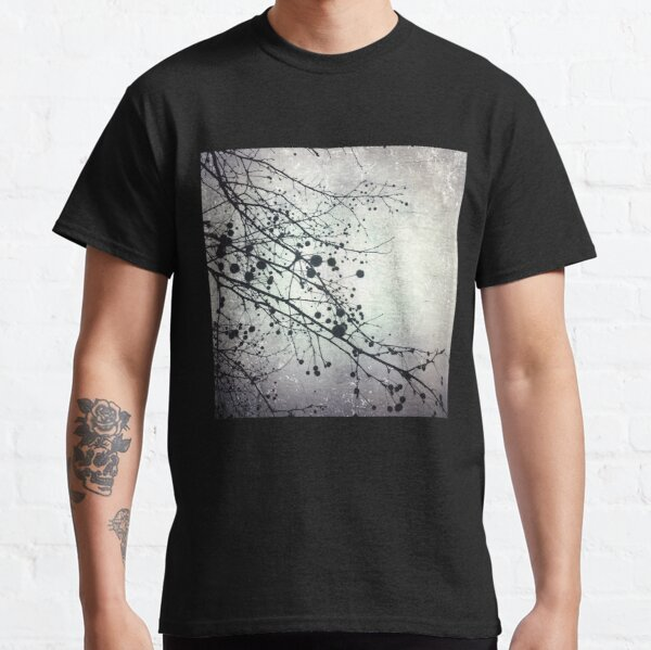 Silver Sky Photo Art  - Bare Tree in Winter - Black and White Nature Art Classic T-Shirt