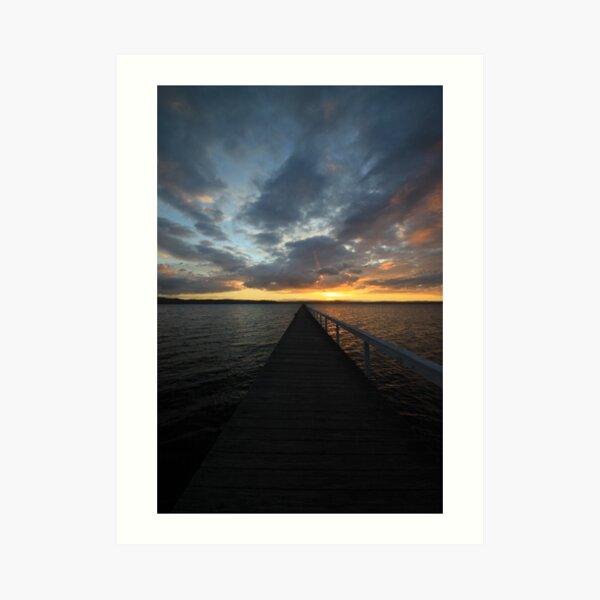 Long Jetty at Sunset Art Print