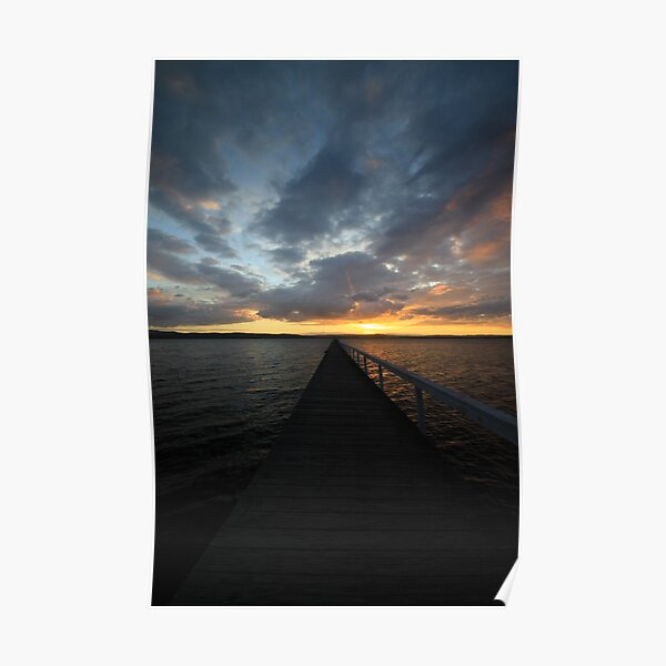 Long Jetty at Sunset Poster