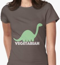 Vegetarian Dinosaur Logo Women's Fitted T-Shirt