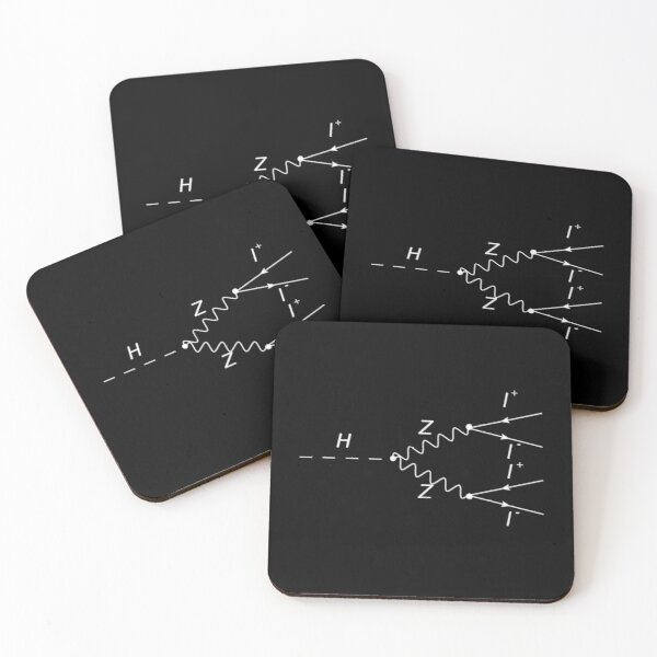 Higgs Boson Physics Geek Science Teacher Coasters (Set of 4)