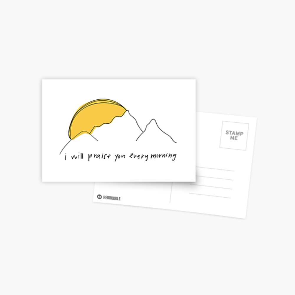 Ich danke dir jeden Morgen Postkarte