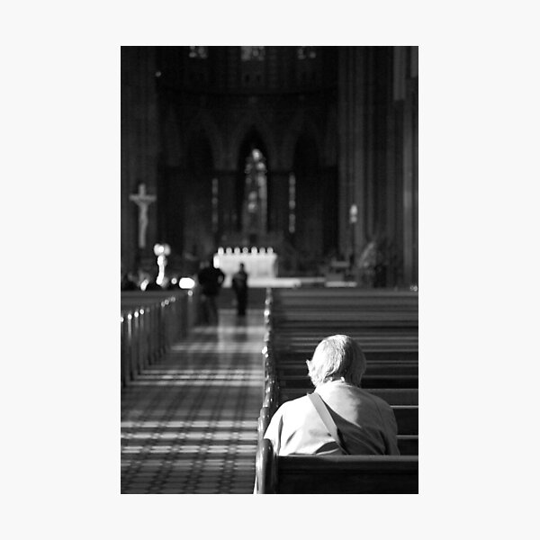 A man and his god Photographic Print