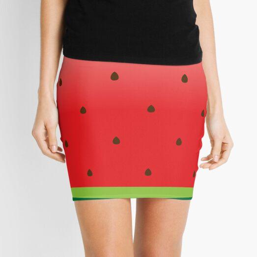 Watermelon Print Mini Skirt
