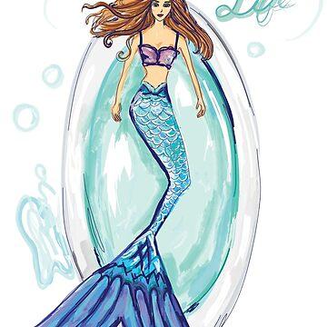 Mermaid in a Bathtub by underwatercity