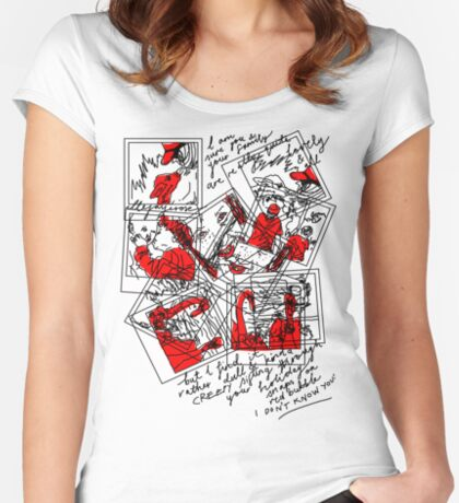Holiday Snaps on Red Bubble... Dull and Creepy! Women's Fitted Scoop T-Shirt