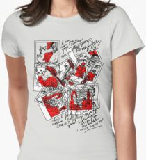 Holiday Snaps on Red Bubble... Dull and Creepy! Women's Fitted T-Shirt