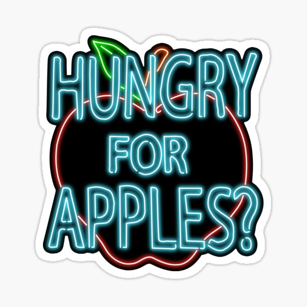 Neon Hungry for Apples Logo Sticker