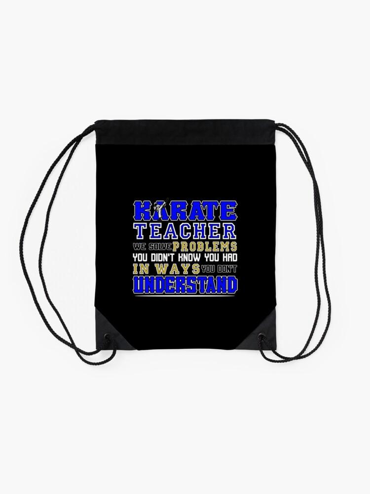 Alternative Ansicht von Karate Teacher We Solve Problems Turnbeutel