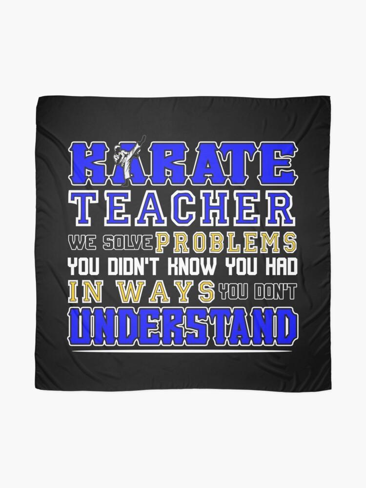 Alternative Ansicht von Karate Teacher We Solve Problems Tuch