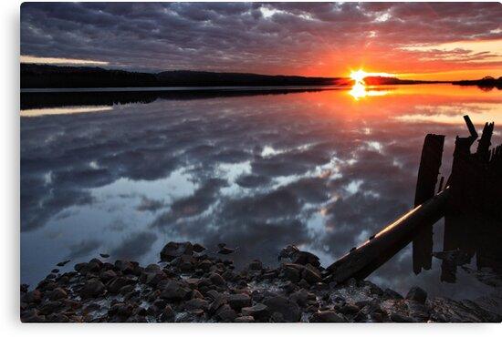 """""""Winter Sunset"""" by Husky"""