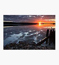"""Winter Sunset"" Photographic Print"