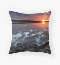 """""""Winter Sunset"""" Throw Pillow"""