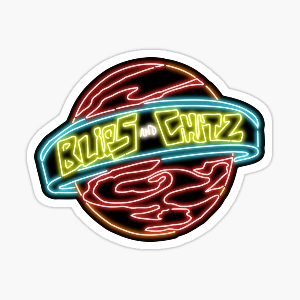 Neon Blips and Chits Logo Sticker