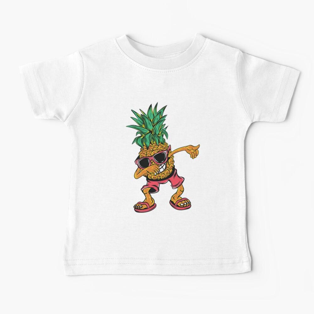 Dabbing Pineapple Sunglasses Aloha Beaches Hawaii Gift Baby T Shirt By Amirimer Redbubble