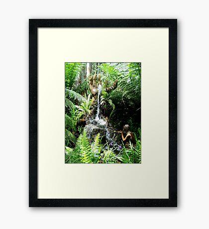 Hand Fountain Framed Print