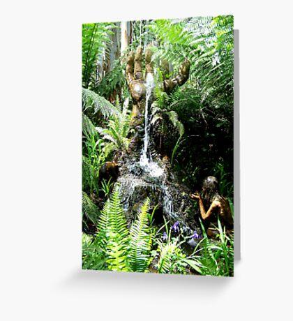 Hand Fountain Greeting Card