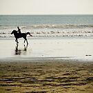 Horse-riding on Double Six Beach, Bali by Ashlee Betteridge