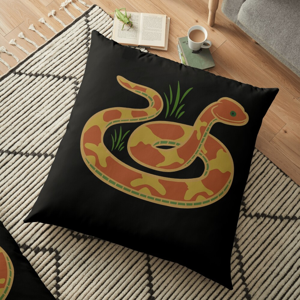 DONT TREAD ON ME Snake icon Floor Pillow