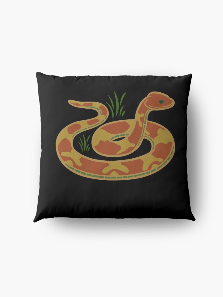 Alternate view of DONT TREAD ON ME Snake icon Floor Pillow