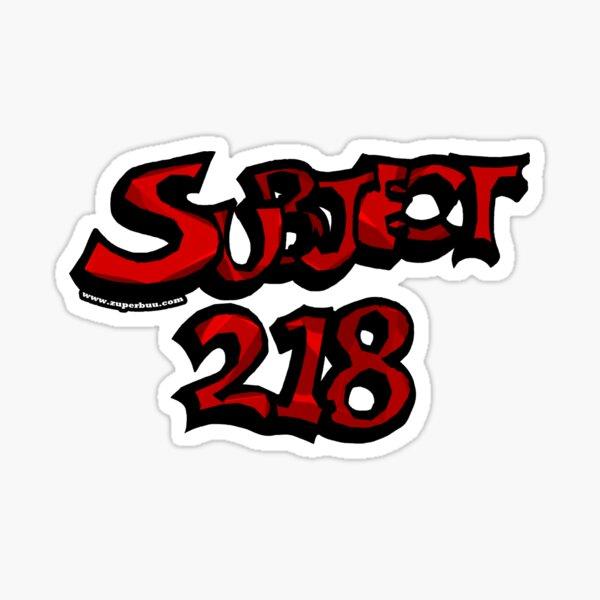 Subject 218 Titlecard Sticker