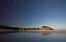Wharariki beach on a full moon by Paul Mercer
