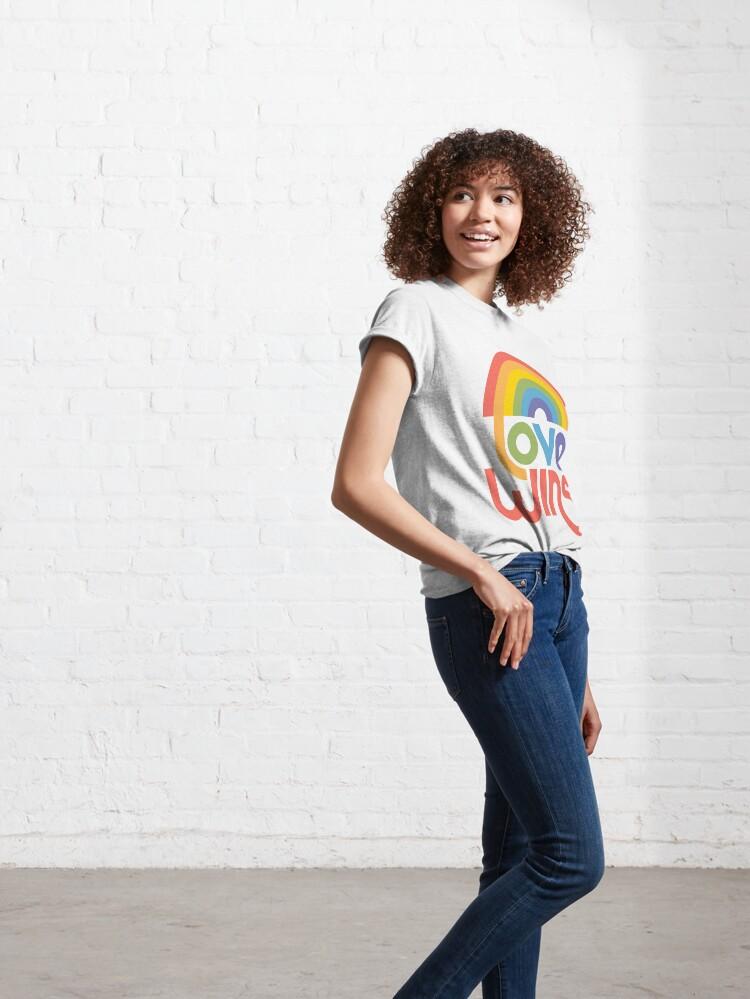 Alternate view of Love wins Classic T-Shirt
