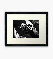 Martin Heyworth on the set of Ice Carving in Mexico at Art Unit Framed Print