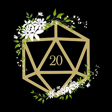 D20 dados Flores Mesa RPG de pixeptional
