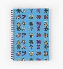 Monster Hunter Weapon Icons Spiral Notebook