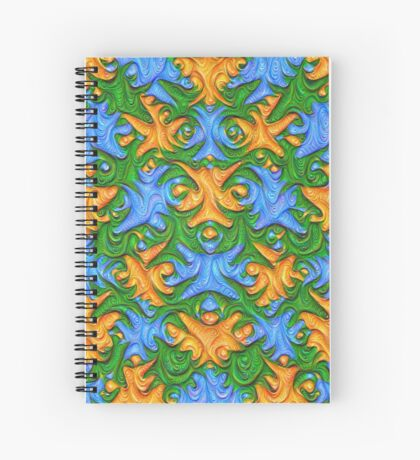 Frozen chanterelles #DeepDream #Art Spiral Notebook
