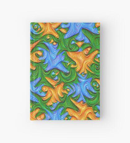 Frozen chanterelles #DeepDream #Art Hardcover Journal