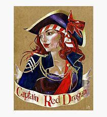 Captain Red Dragon Photographic Print