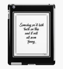 Bruce Springsteen Words Tribute 1 iPad Case/Skin