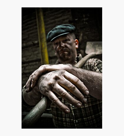 Coal Worker or Story telling hands Photographic Print