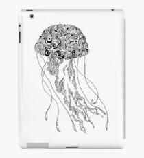 Zentangle Fine liner Jellyfish iPad Case/Skin