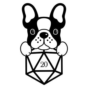 Dados del Bulldog Francés D20 Dados de pixeptional