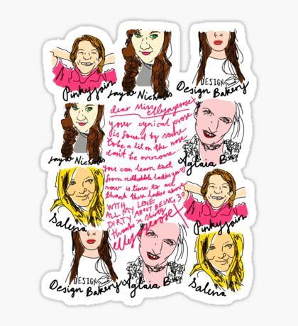 Thanks Ladies of Red Bubble xx Sticker