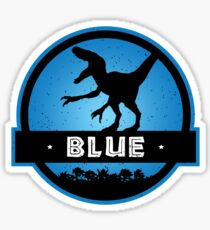 Velociraptor Squad: Blue Team Sticker