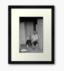 Egg man Framed Print