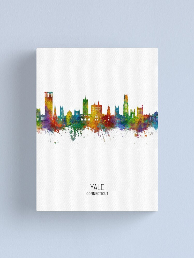 Alternate view of Yale Connecticut Skyline Canvas Print