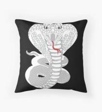 White Cobra Floor Pillow