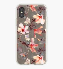 Korallen Hibiskus iPhone-Hülle & Cover