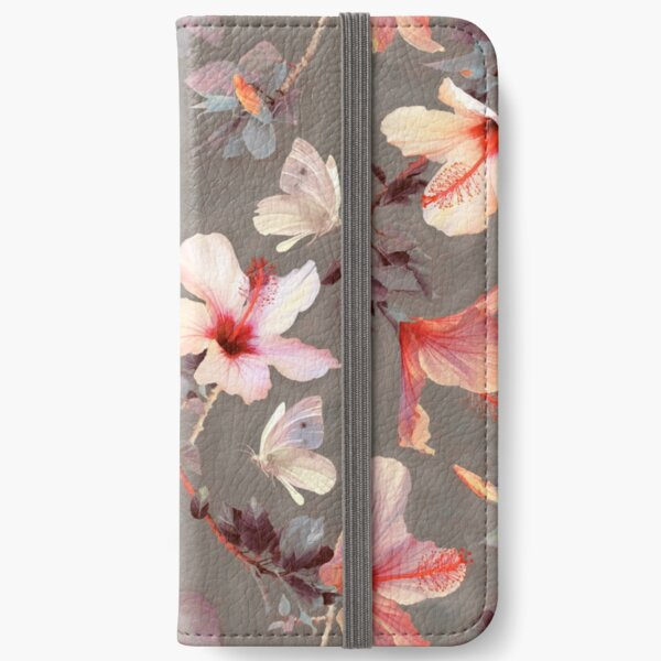 Coral Hibiscus iPhone Wallet